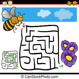 cartoon maze or labyrinth game