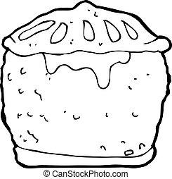 cartoon meat pie