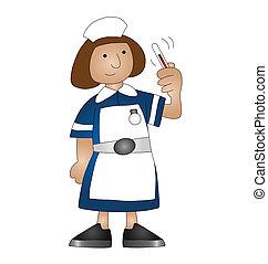 medical nurse - Cartoon medical nurse isolated on white...