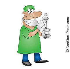 medical surgeon - Cartoon medical surgeon isolated on white ...
