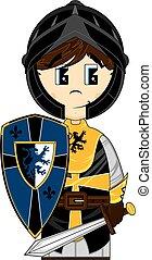 Cartoon Medieval Crusader Knight