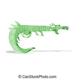 cartoon medieval dragon