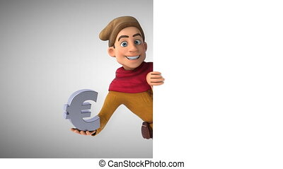 Cartoon medieval historical character