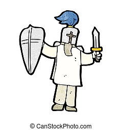 cartoon medieval knight