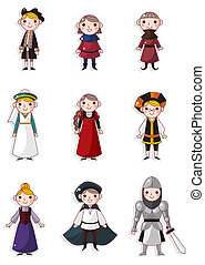 cartoon medieval people
