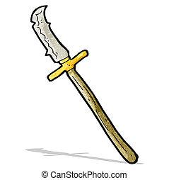 cartoon medieval spear