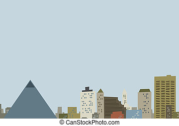 Cartoon Memphis Skyline