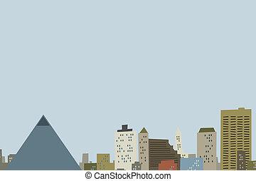 Cartoon Memphis Skyline