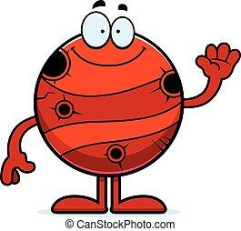 Cartoon Mercury Waving - A cartoon illustration of the...