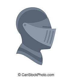 Cartoon metal knight helmet