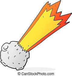 cartoon meteor - freehand drawn cartoon meteor