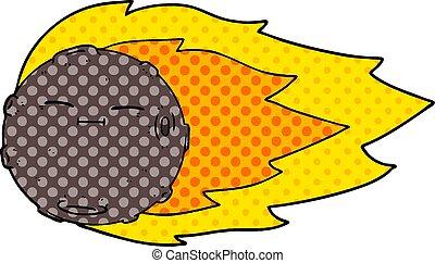 cartoon meteorite