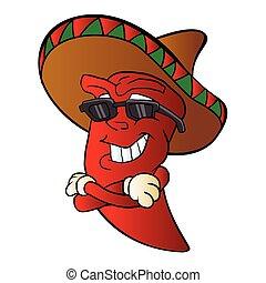 cartoon mexican pepper.