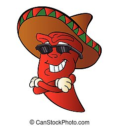 cartoon mexican pepper.