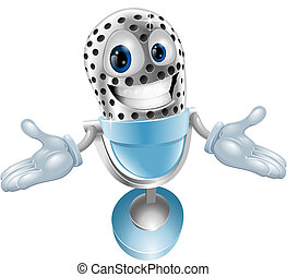 Cartoon microphone mascot