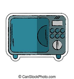cartoon microwave electric appliance design