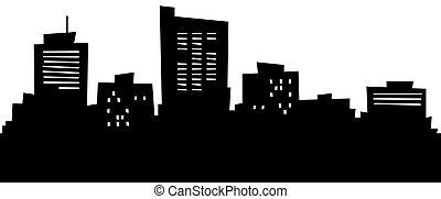 Cartoon Midland, TX - Cartoon skyline silhouette of the city...