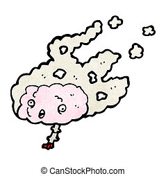 cartoon migraine brain