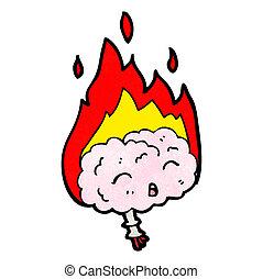 cartoon migraine brain
