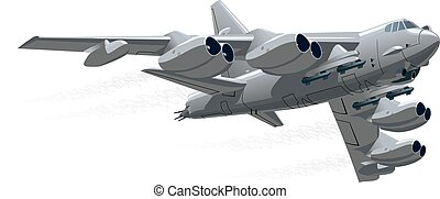 Vector Cartoon Bomber. Available EPS-10 vector format separated by groups and layers for easy edit