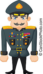 Cartoon military general - Vector illustration of Cartoon...