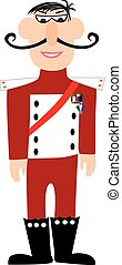Cartoon military general in uniform