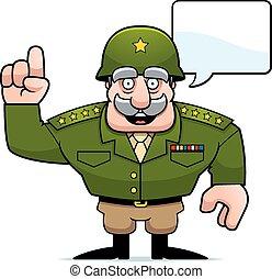 Cartoon Military General Talking