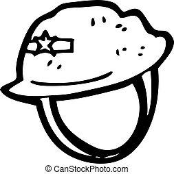 cartoon military helmet