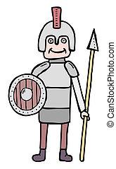 Cartoon militia - Cartoon man in arms, militia