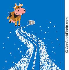 Cartoon milky way