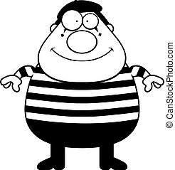 Cartoon Mime - A cartoon illustration of a mime standing and...