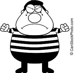 Cartoon Mime Angry - A cartoon illustration of a mime with ...