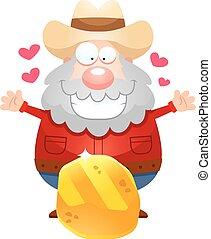 Cartoon Miner Gold