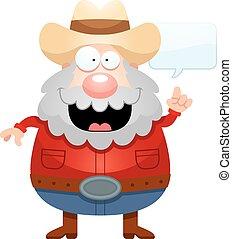 Cartoon Miner Talking