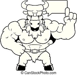 Cartoon Minotaur Talking