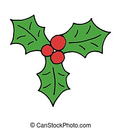 cartoon mistletoe hand drawn vector doodle icon