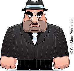 Cartoon Mobster - A big cartoon mobster in a suit.