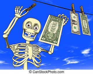 Cartoon - money laundering - Illustration - cartoon of human...