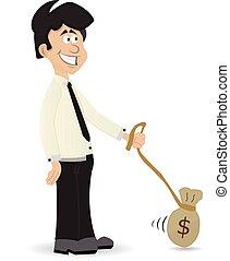 cartoon money slave