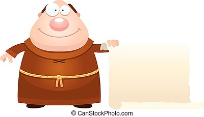 Cartoon Monk Sign