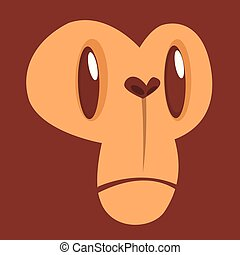 Cartoon monkey face avatar.