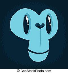 Cartoon monkey face avatar.