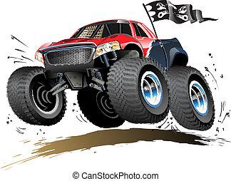 Cartoon Monster Buggy - Vector Cartoon Buggy. Available...