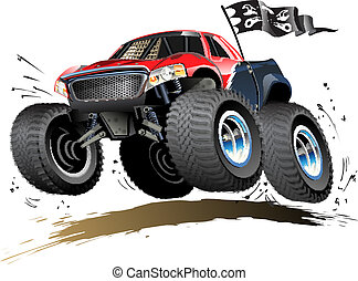 Cartoon Monster Buggy - Vector Cartoon Buggy. Available...