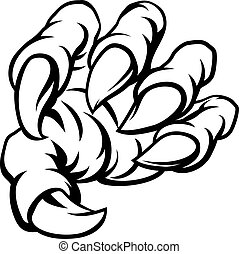 Cartoon Monster Claw Hand
