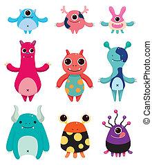 cartoon monster icons