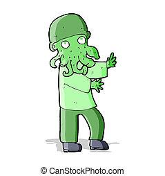 cartoon monster man