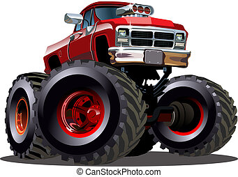 Cartoon Monster Truck. Available EPS-10 vector formats ...