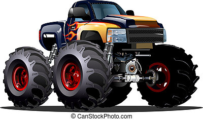 Cartoon Monster Truck. Available EPS-10 vector formats...