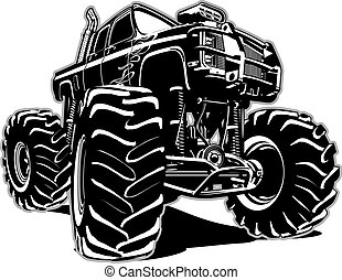 Cartoon Monster Truck. Available EPS-8 separated by groups ...